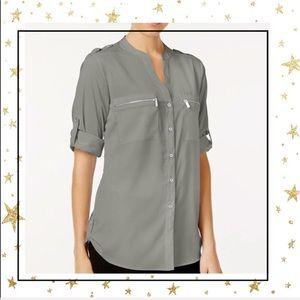 Calvin Klein  Zip Up pockets utility blouse (A3)